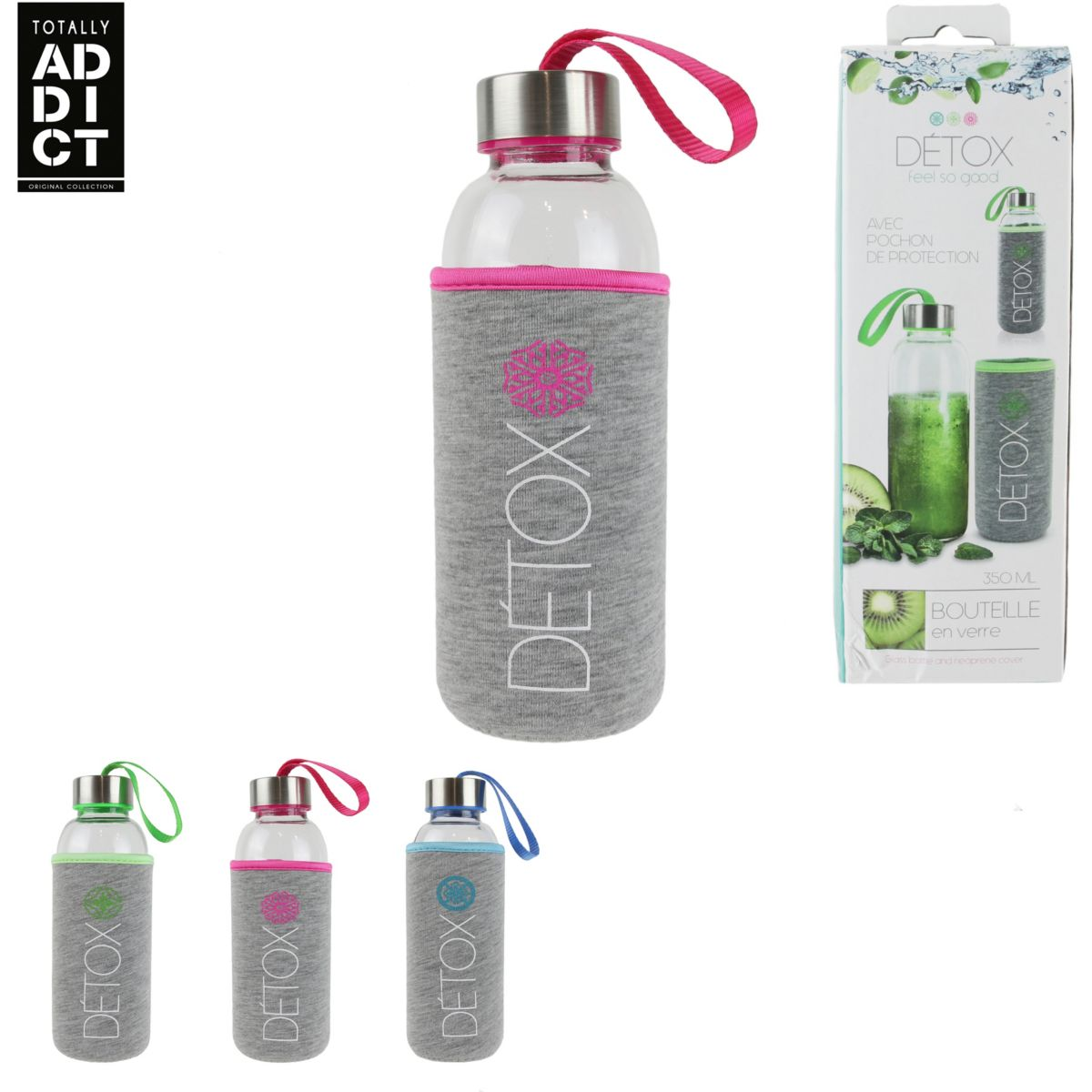 BOUTEILLE TOTALLY ADDICT verre detox 350 (photo)