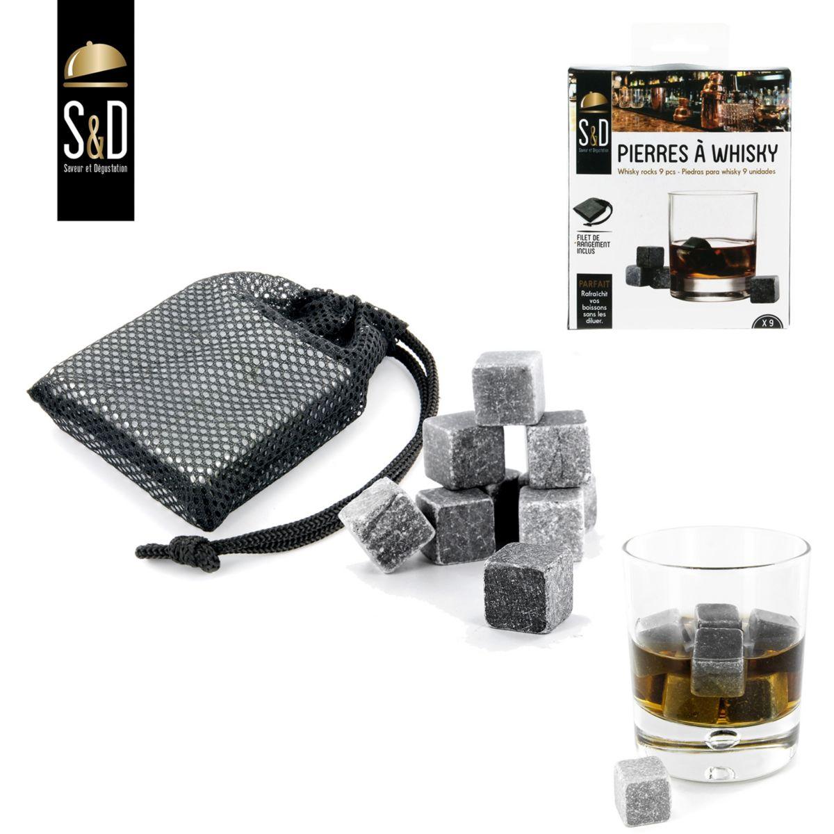 Pierres à whisky SAVEUR & DEGUSTATION à whisky lot de 9