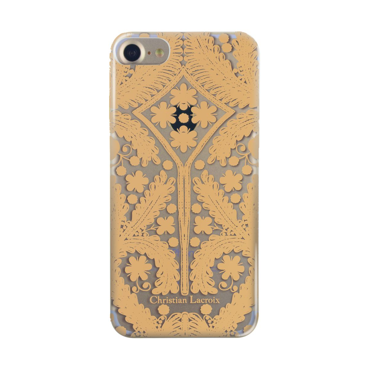 Coque CHRISTIAN LACROIX iPhone 7/8 Paseo transparente métal d...