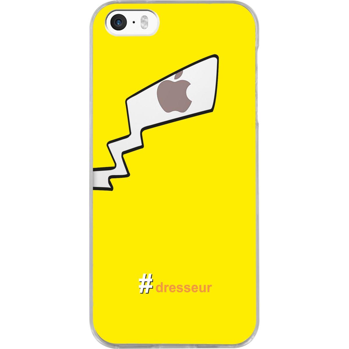 Coque BIGBEN iPhone 5S/SE #Dresseur Pikachu jaune