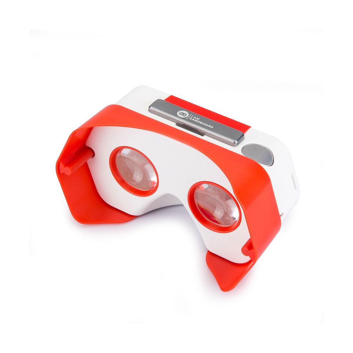 Casque de réalité virtuelle . IAM Cardboard Plastic VR Rouge