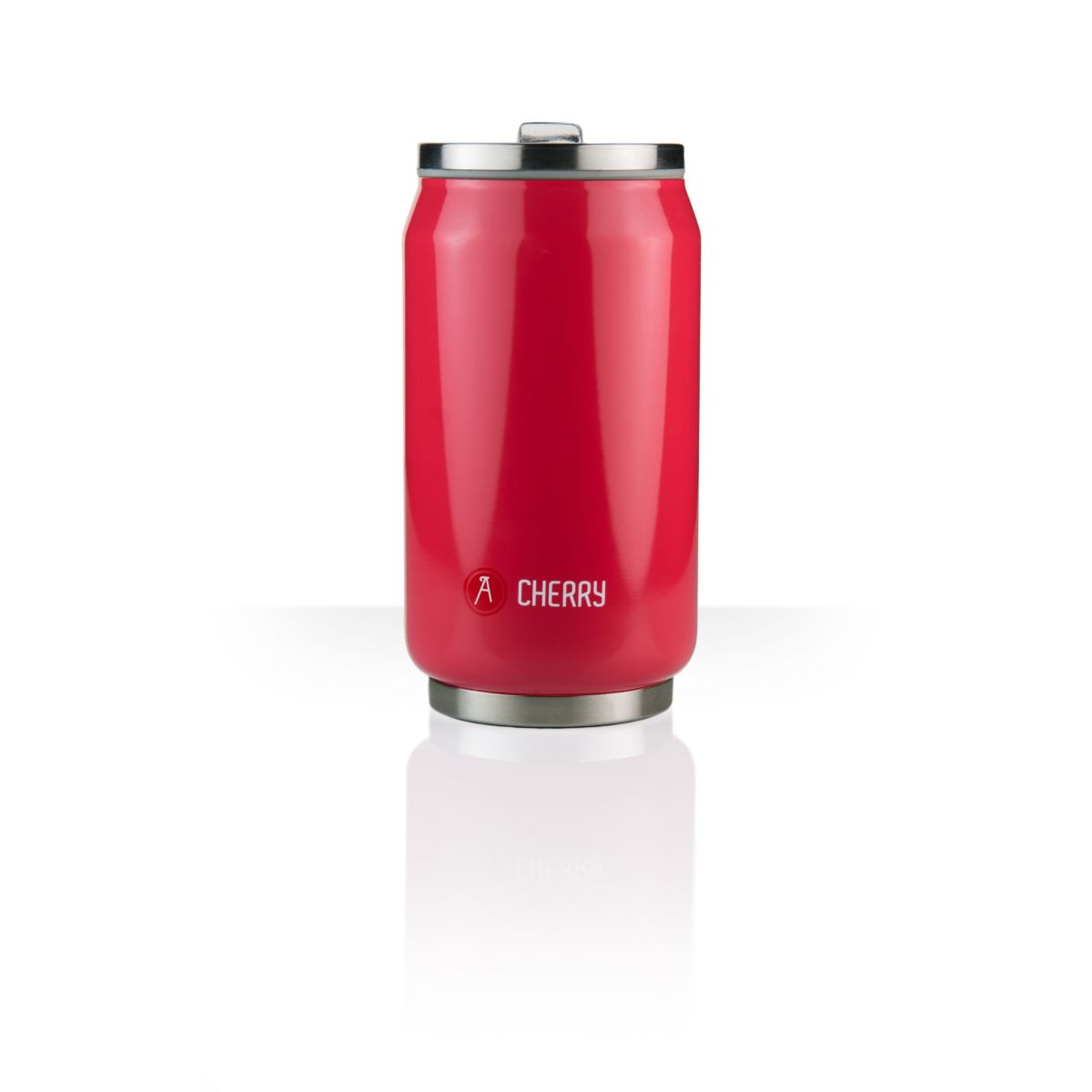 Mug isotherme LES ARTISTES Can'it rouge brillant 28cl A-1803