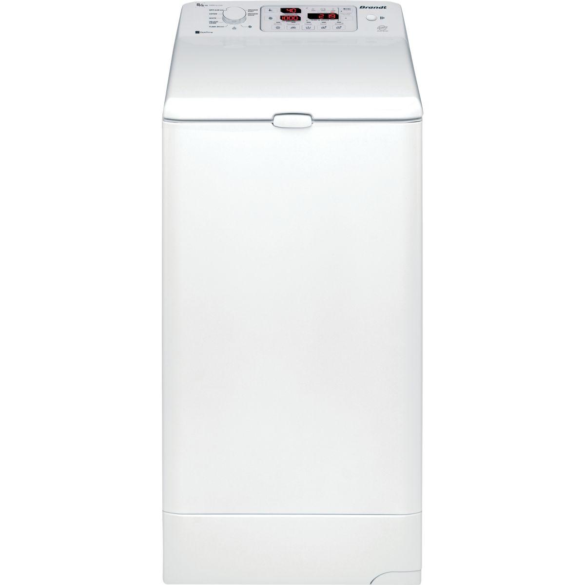 Lave linge séchant top BRANDT WTD8074SF