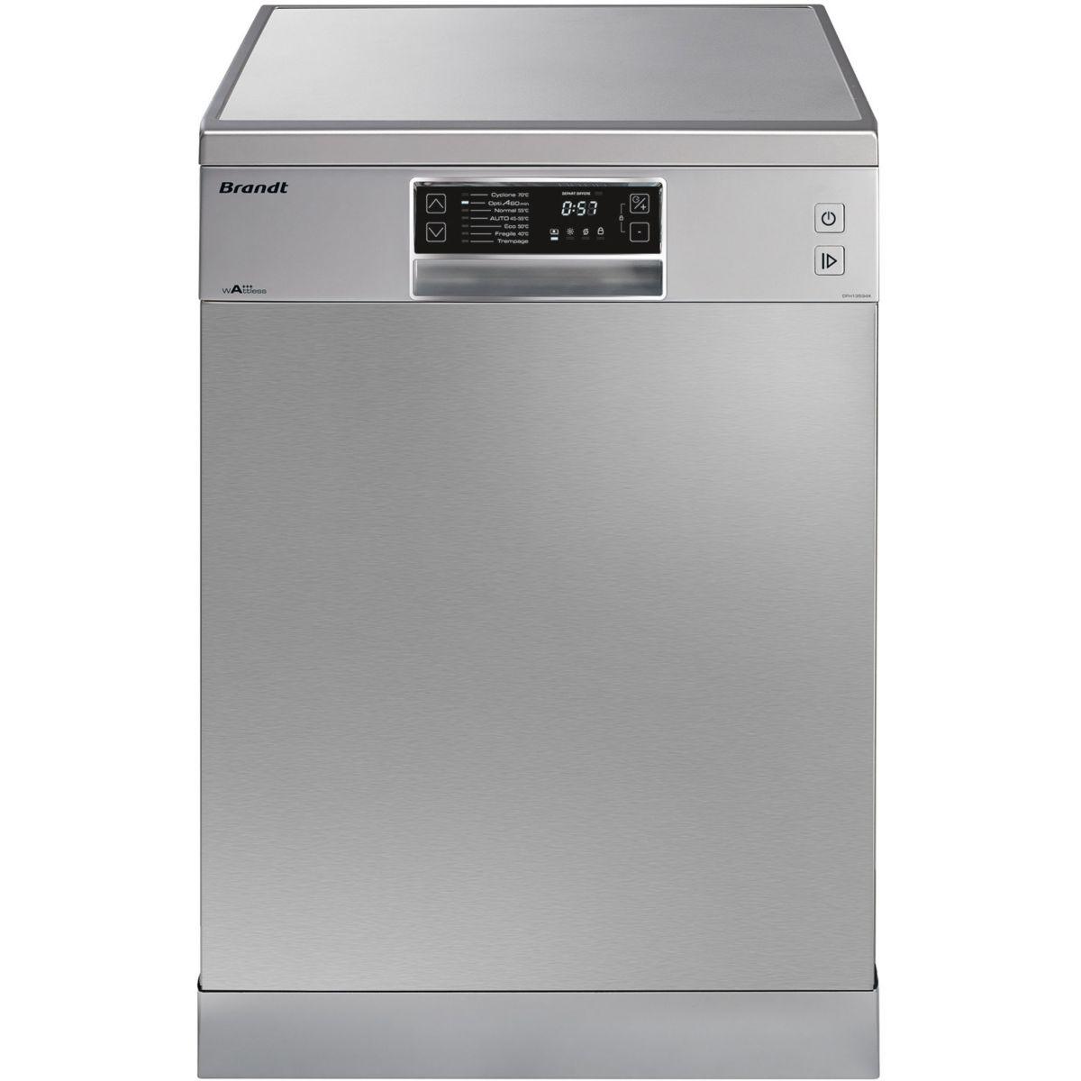 Lave vaisselle 60 cm BRANDT DFH 13534X (Silver)
