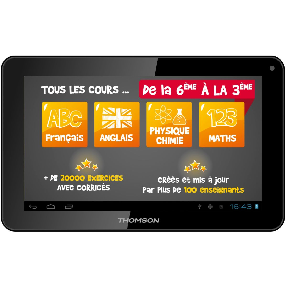 Tablette THOMSON TEO-QD10BK8E 8Go Educative (photo)