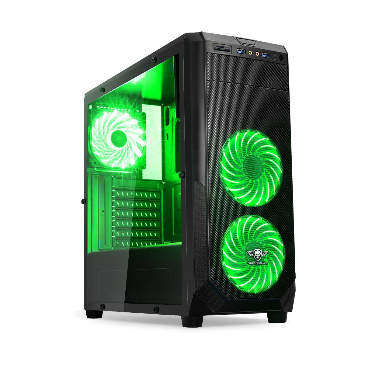 Boîtier SPIRIT OF GAMER PC Rogue 1 Vert (photo)