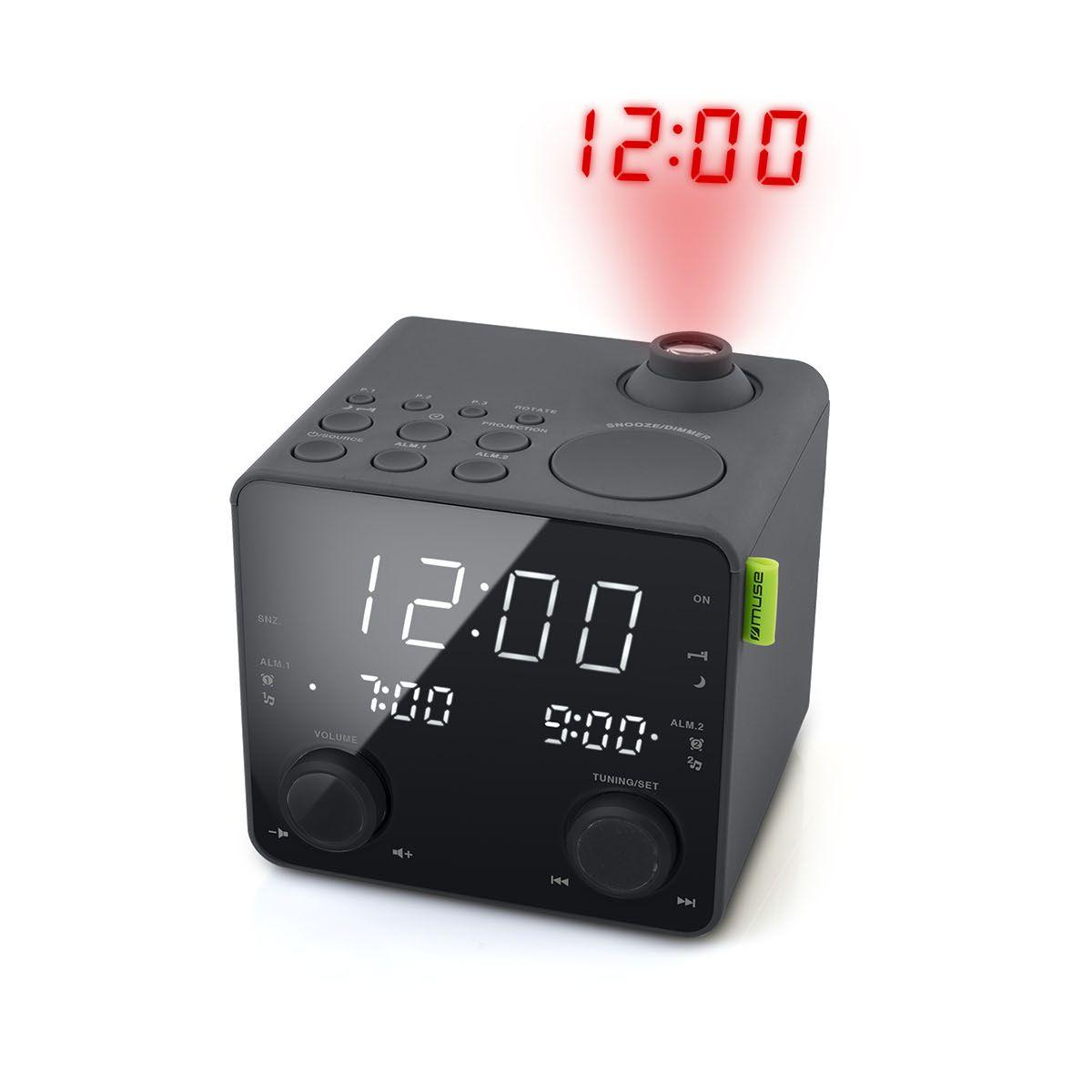 Radio réveil MUSE M-189 P Noir