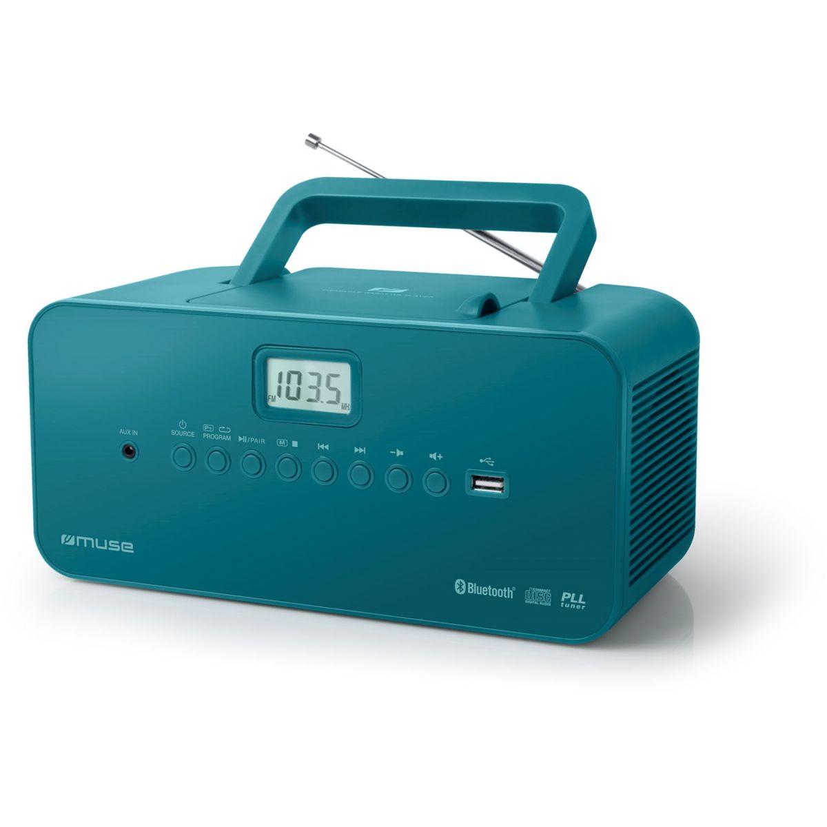 Radio CD MUSE M-30 BT bleu