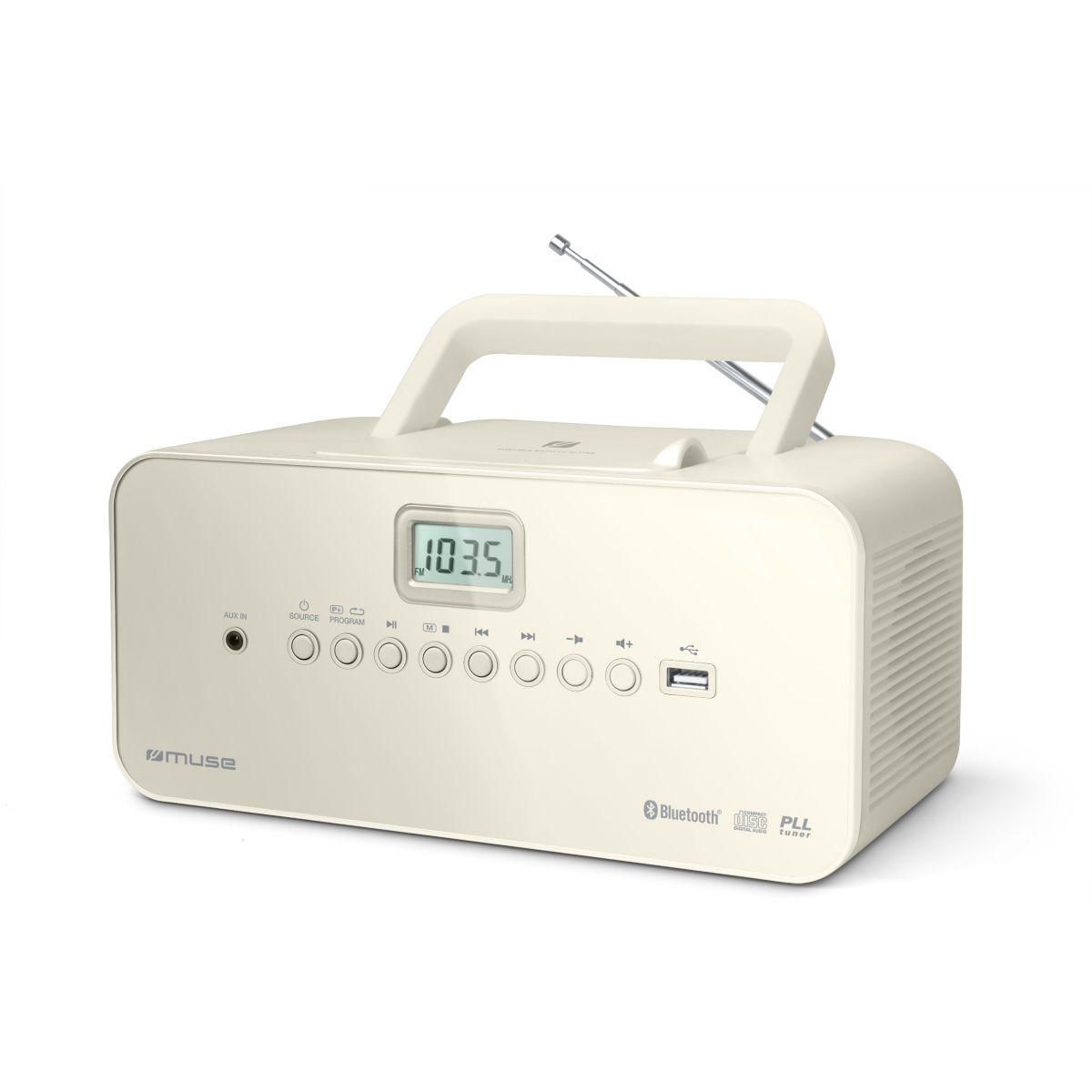 Radio CD MUSE M-30 BT blanc