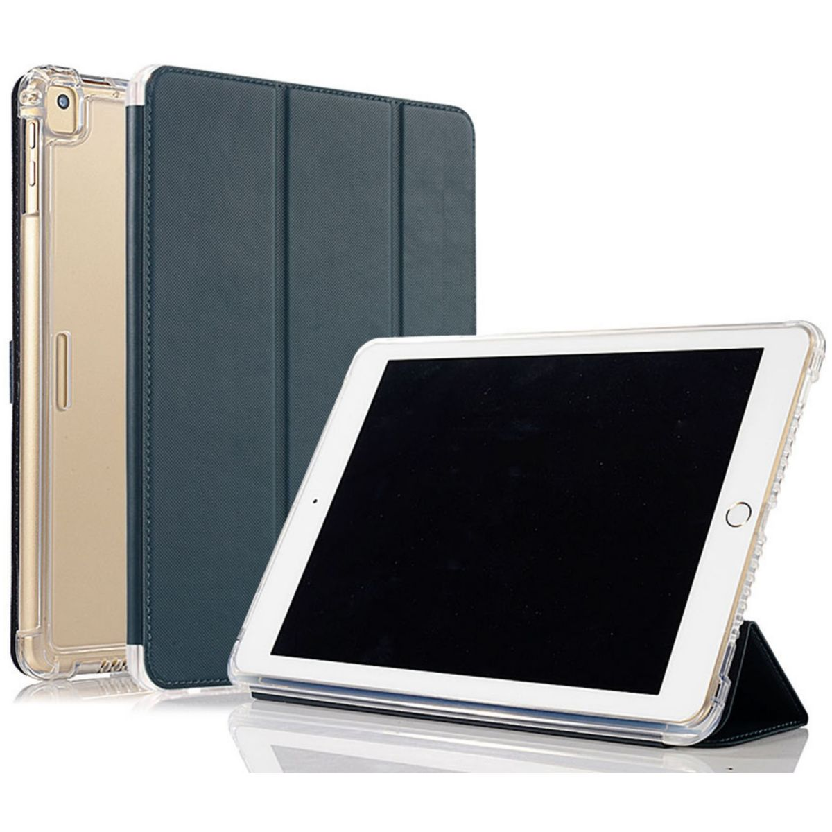 Coque IBROZ Antichoc + Smart Cover iPAD 9.7 Noir (photo)