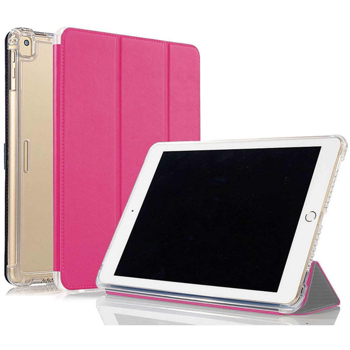 Coque IBROZ Antichoc + Smart Cover iPAD 9.7 Rose (photo)