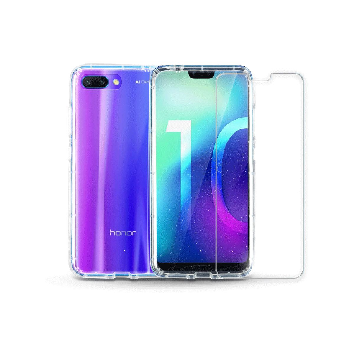 Coque + Protège écran IBROZ Honor 10 PHANTOM Pack Coque + verre trem (photo)