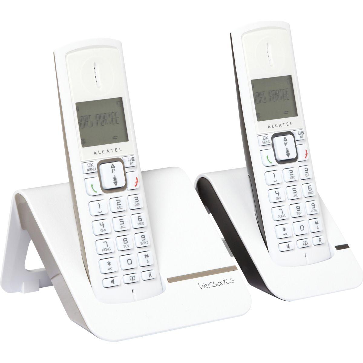 Téléphone sans fil duo ALCATEL F230 Taupe