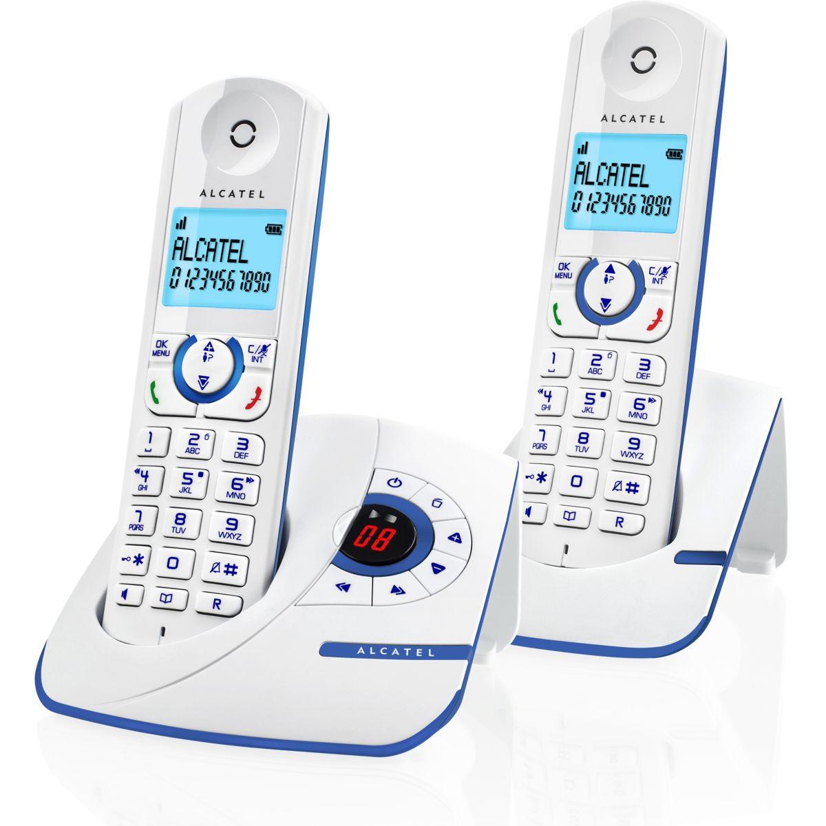 Téléphone sans fil ALCATEL F390 Voice Duo Bleu