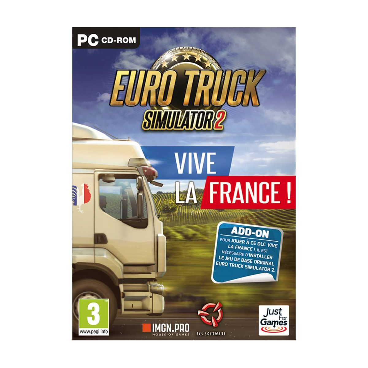 Jeu PC JUST FOR GAMES Euro Truck 2 Simulator - Vive la France (photo)