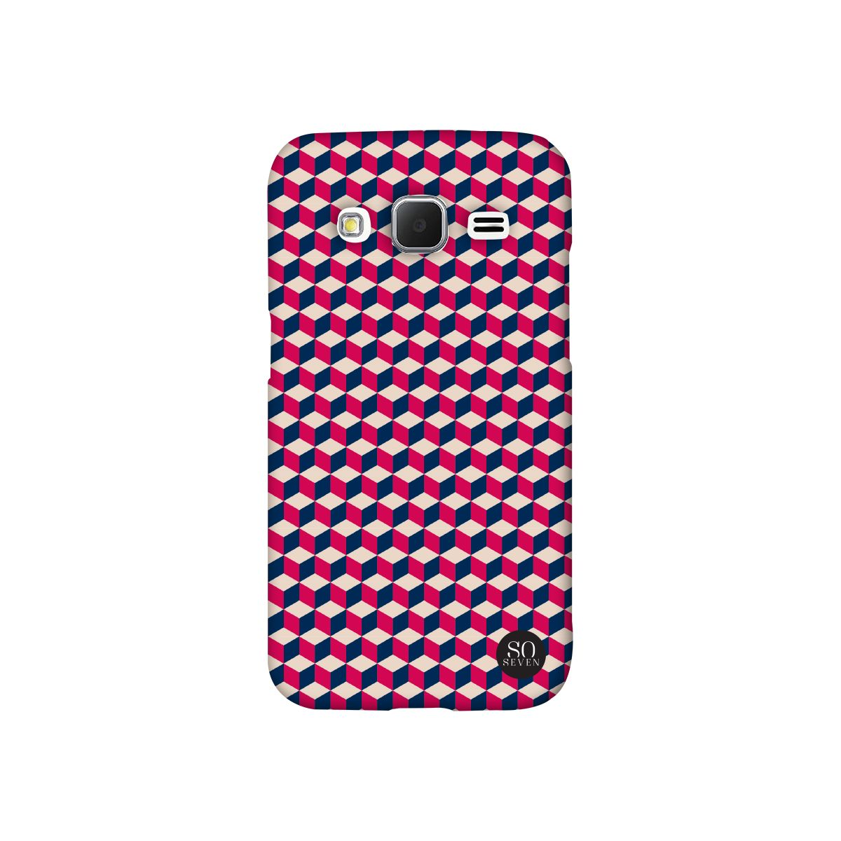 Coque SO SEVEN iPhone 6/6S Retro Cubic rouge