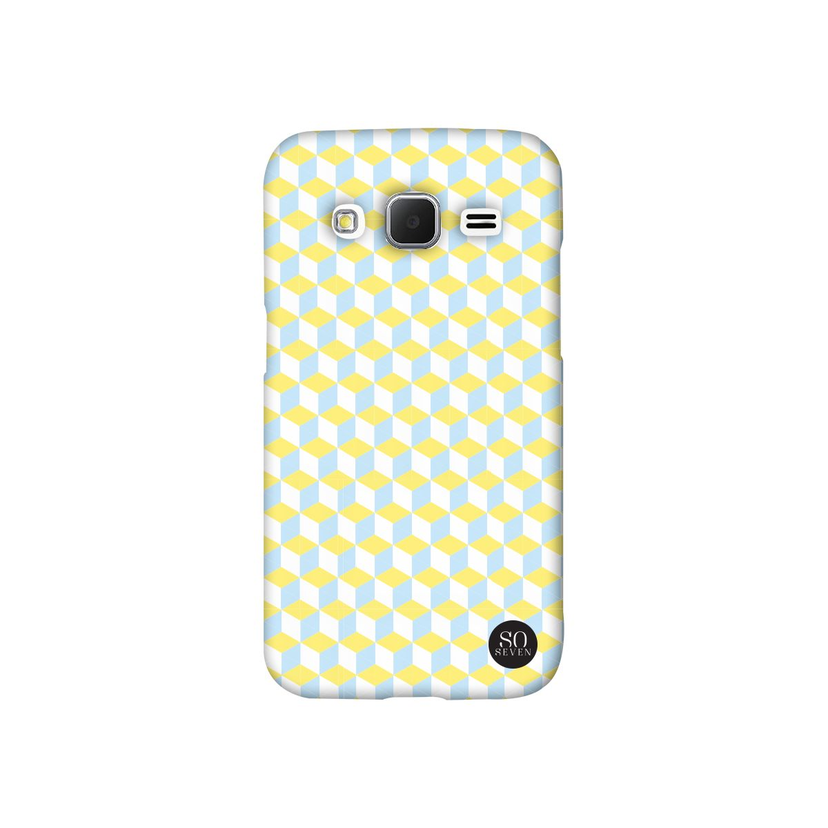 Coque SO SEVEN iPhone 6/6S Retro Cubic vert jaune
