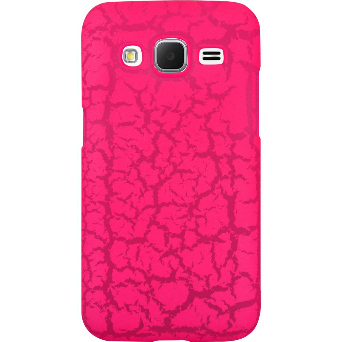 Coque SO SEVEN Core Prime Fluo rose craquelé+Bracelet