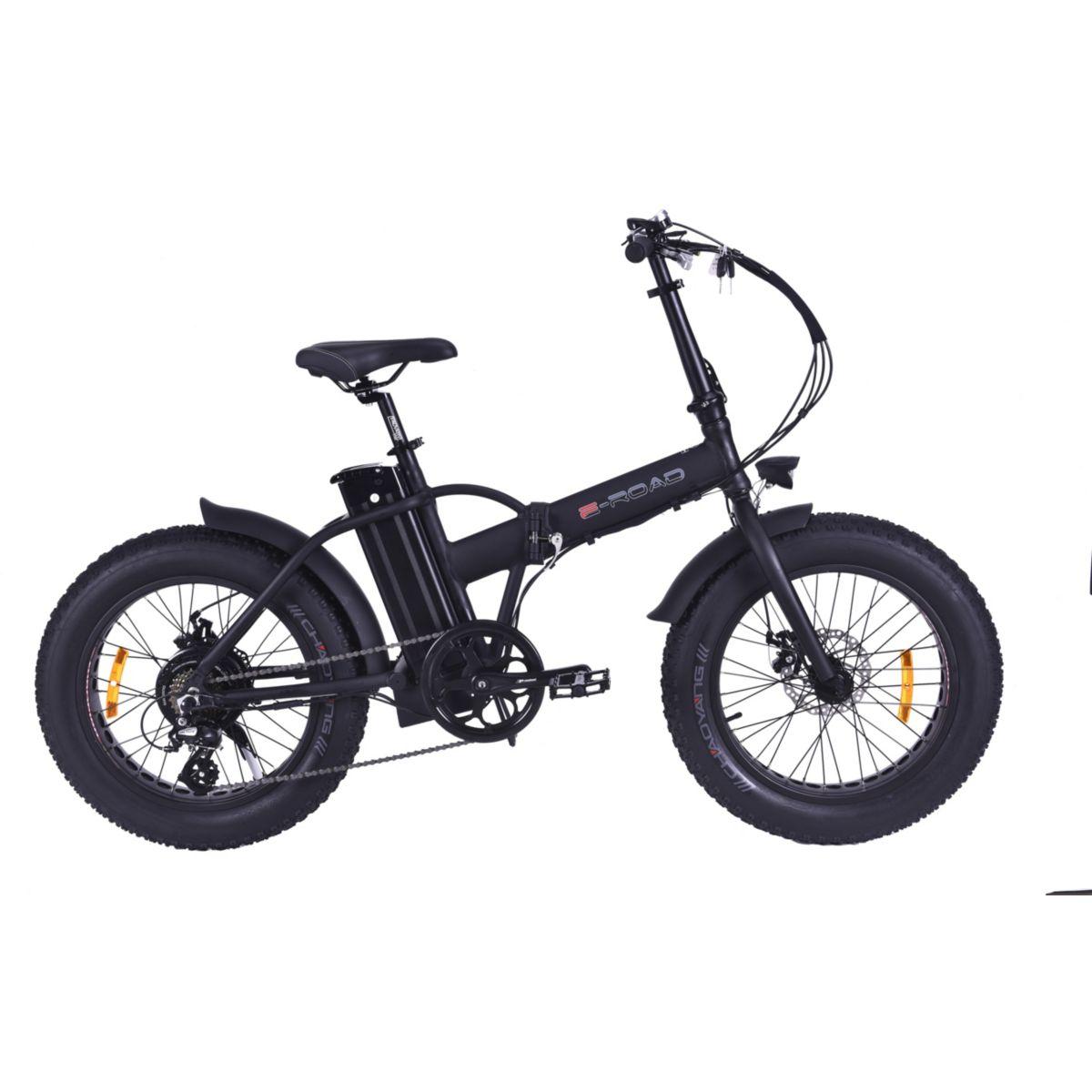Vélo à assistance électrique E-ROAD Mini Fat Bike noir