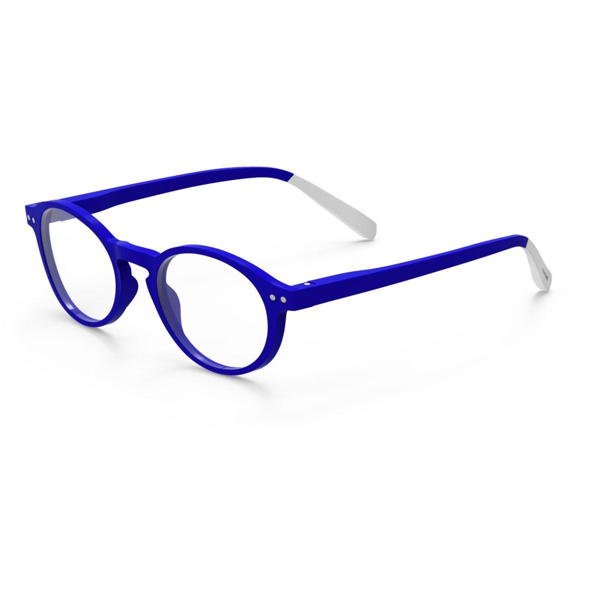 Lunette de lecture anti lumière bleue PANTONE BLEU ELEC Num2 +3.0 2en1