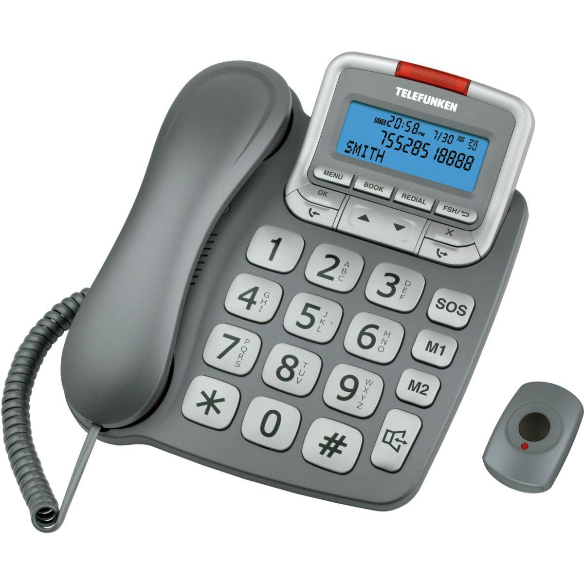 Téléphone filaire TELEFUNKEN TF591 Solo Gris