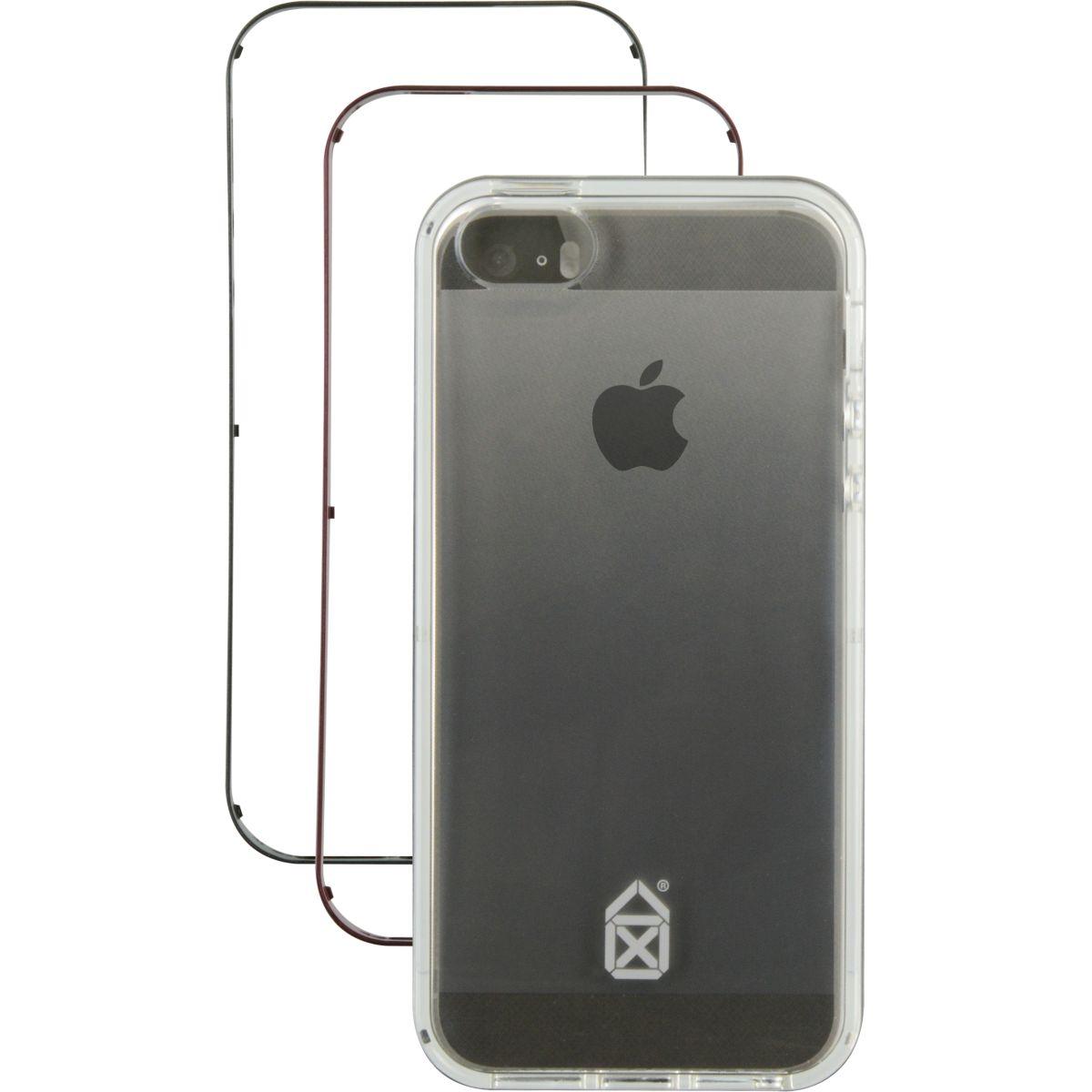 Bumper CASE SCENARIO 3 en 1 gris sidéral iPhone 5S/SE (photo)