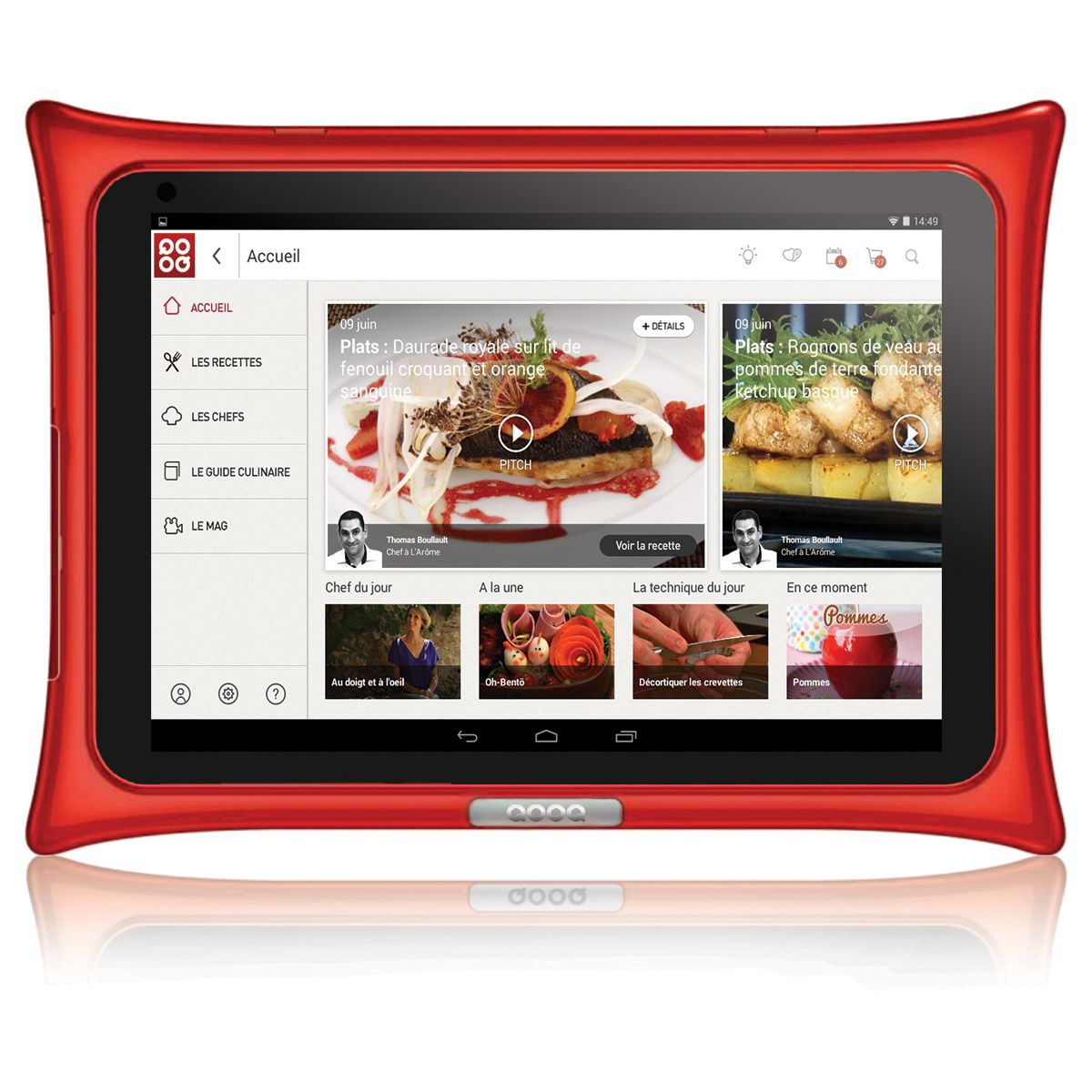 Tablette QOOQ V4 Rouge (photo)