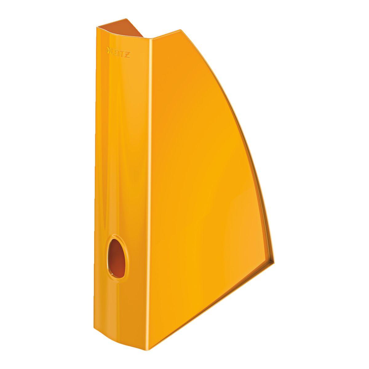 Corbeille LEITZ Porte revue WOW Orange (photo)