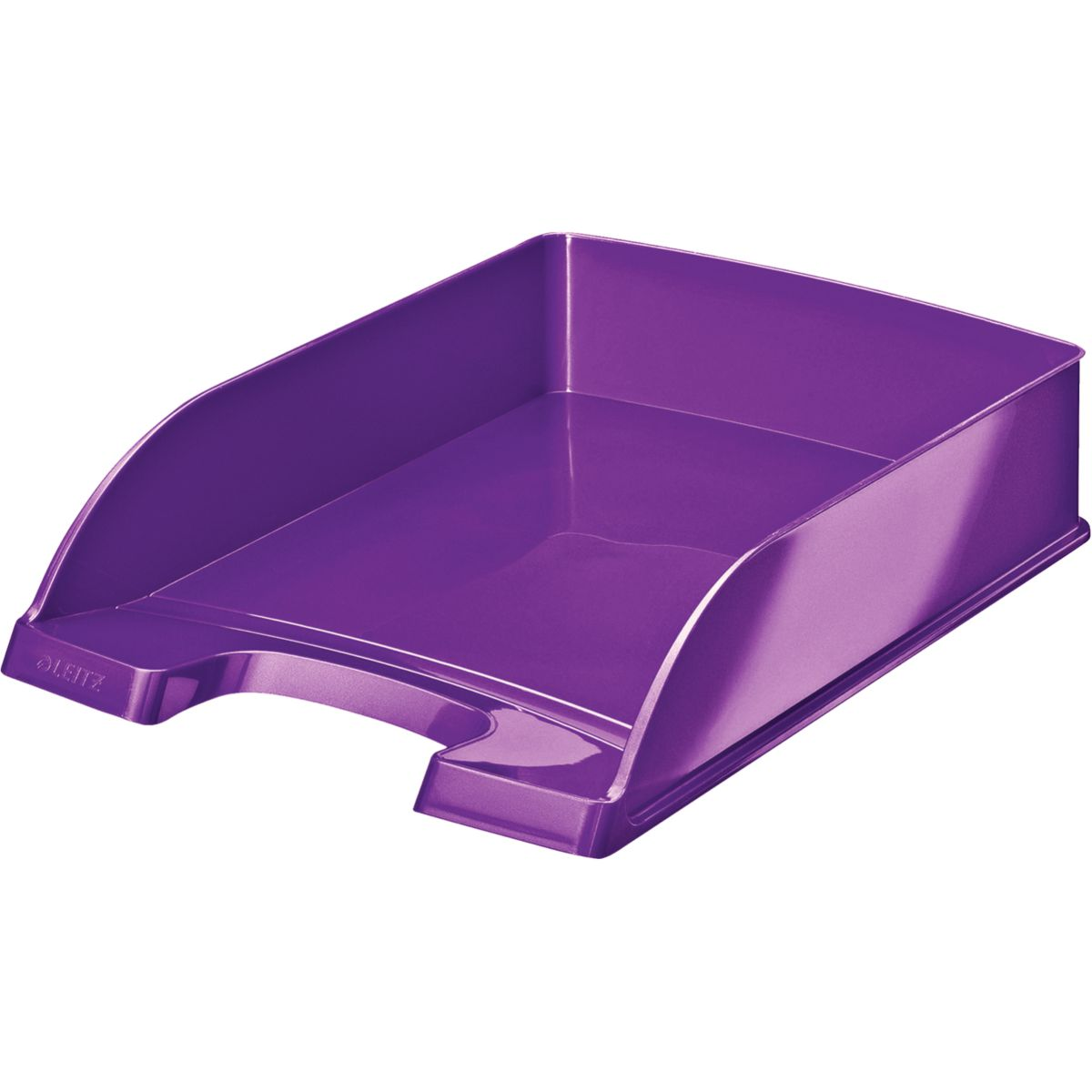 Bannette bureau LEITZ Corbeille courrier A4 WOW Violet (photo)