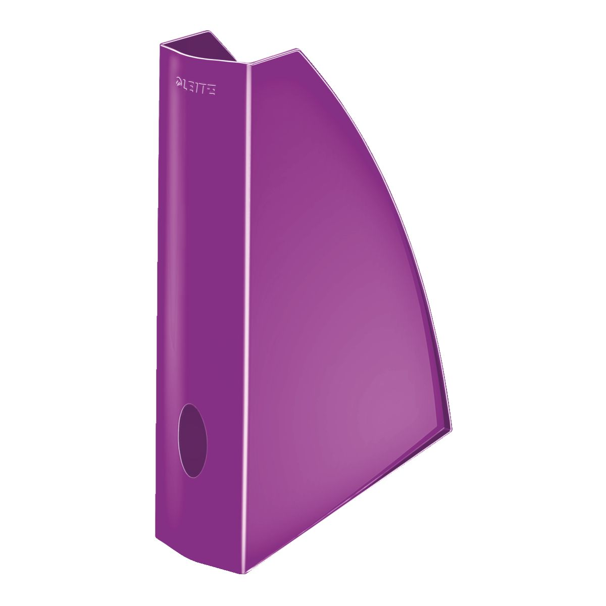 Corbeille LEITZ Porte revue WOW Violet (photo)