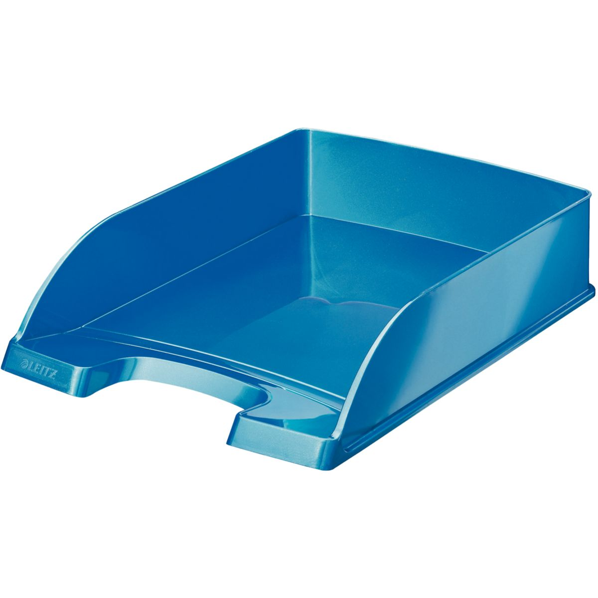 Bannette bureau LEITZ Corbeille courrier A4 WOW Bleu (photo)