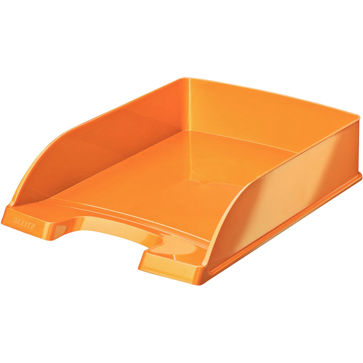 Bannette bureau LEITZ Corbeille courrier A4 WOW Orange (photo)