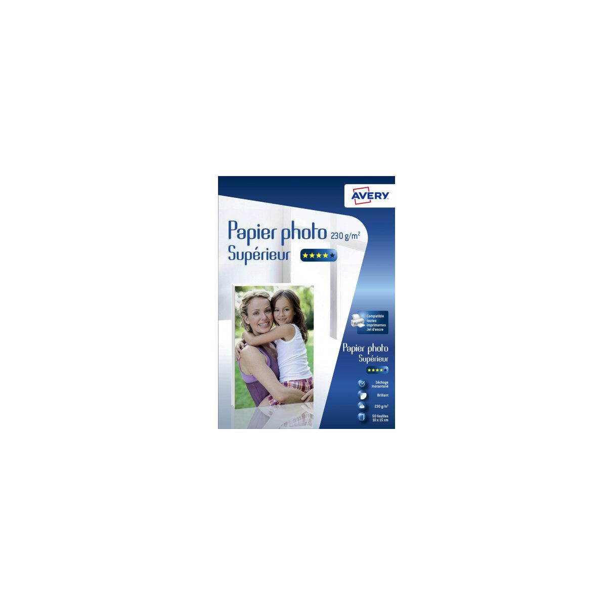 Papier photo AVERY 50 Photos brillantes 10x15 230g/m² (photo)