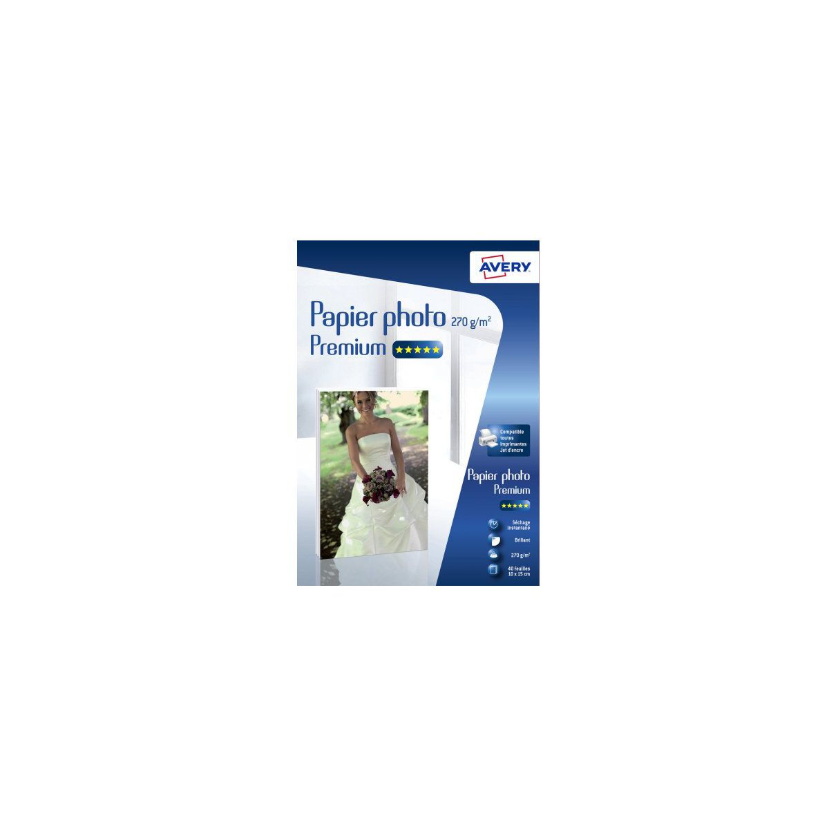 Papier photo AVERY 40 Photos brillantes 10x15 270g (photo)