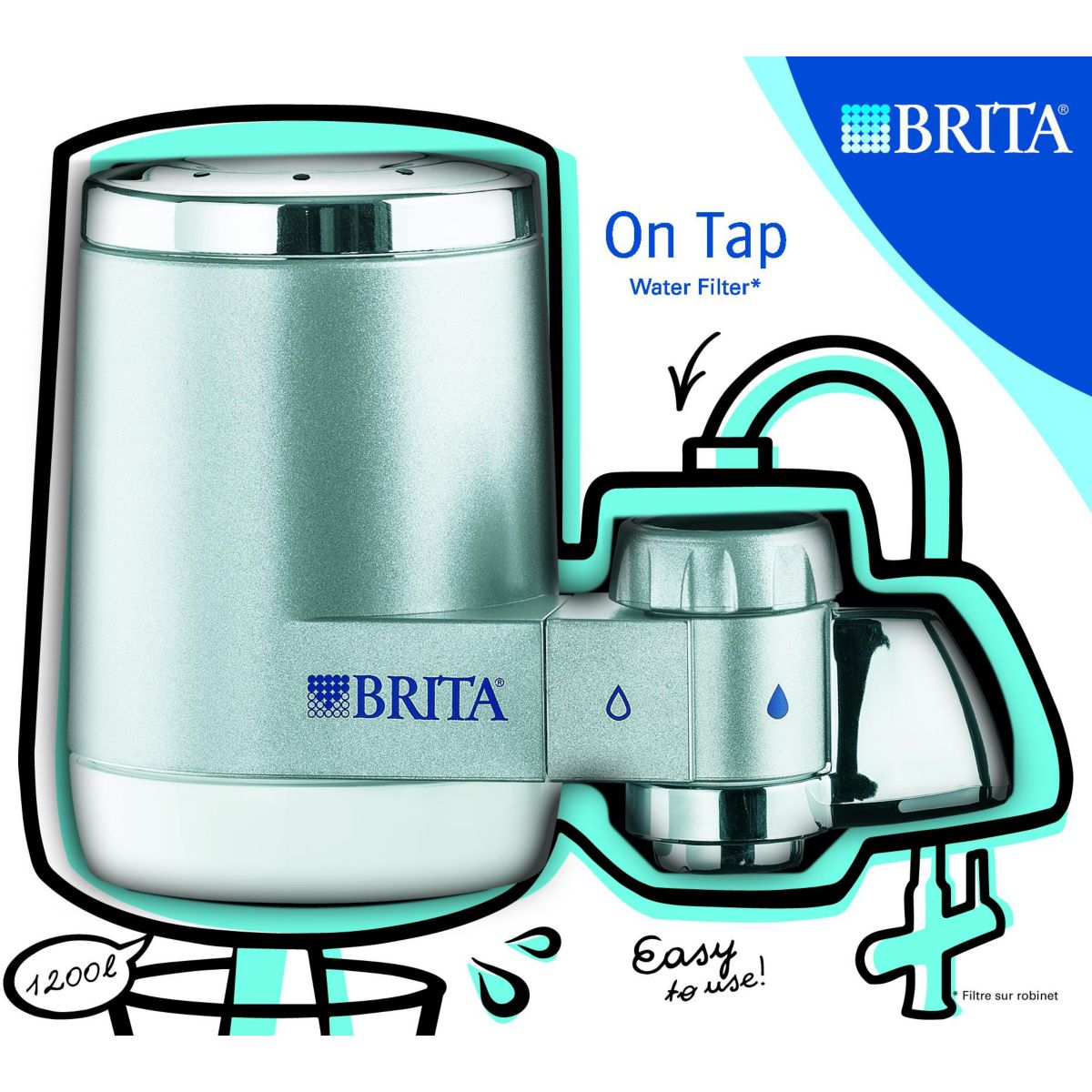 Robinet filtrante BRITA On Tap Silver