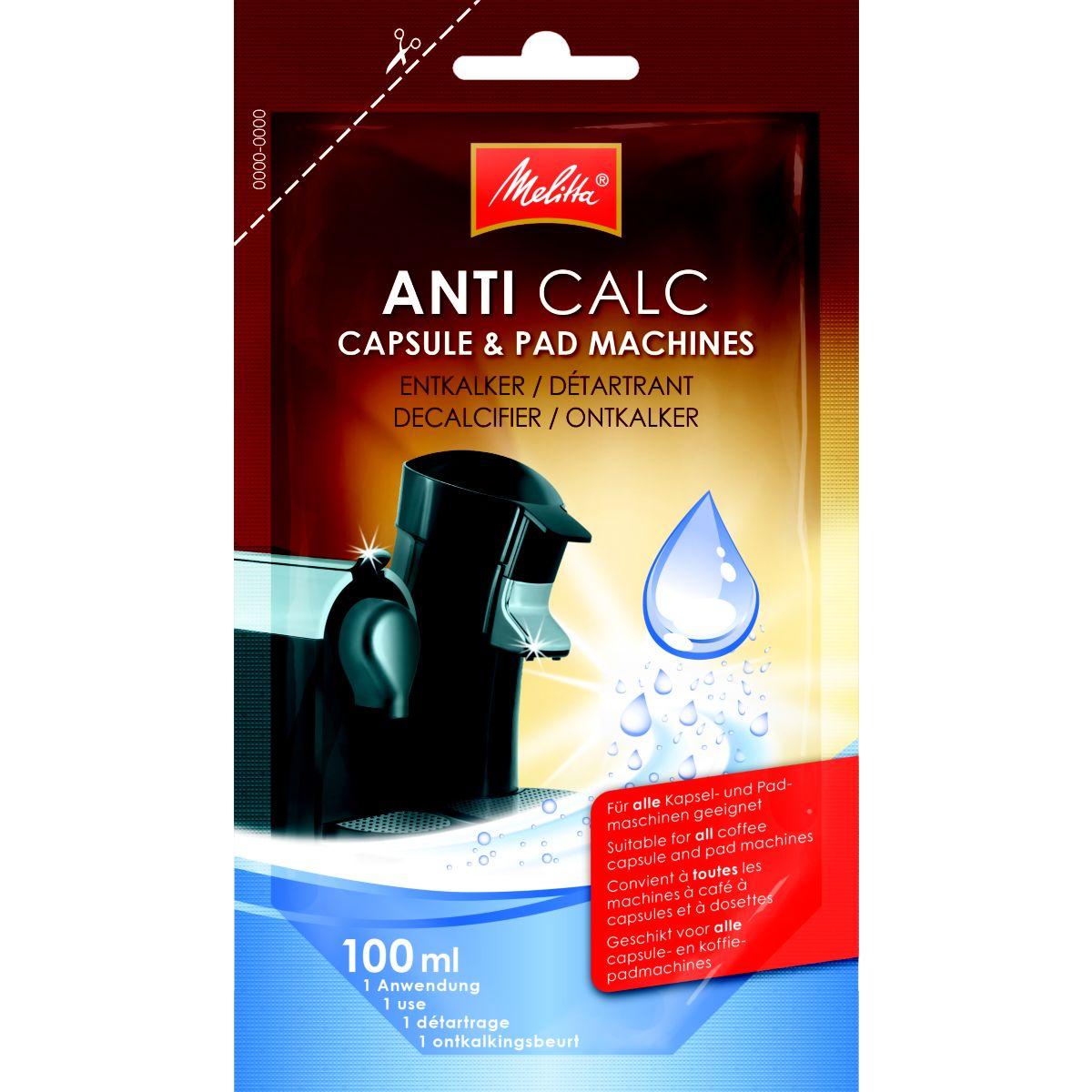 Détartrant MELITTA unidose-machine à capsules et dosettes