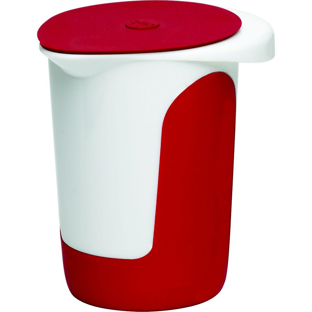 Bol EMSA Mix & Bake avec couvercle 1L blanc/rouge