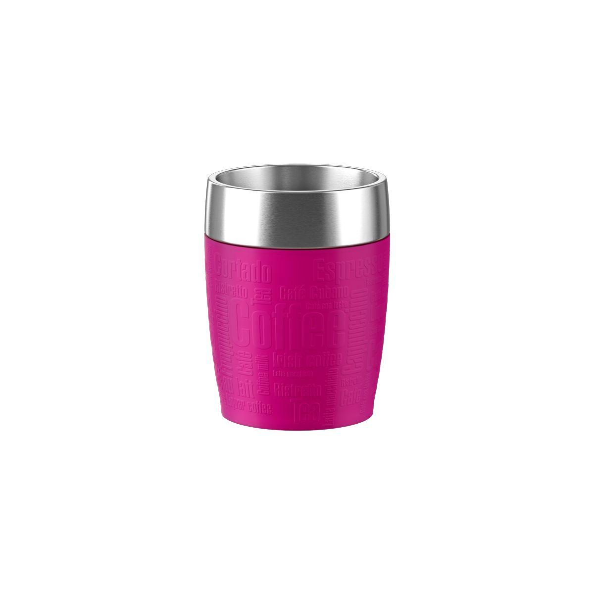 Mug isotherme EMSA Isotherme 0.2L inox/framboise