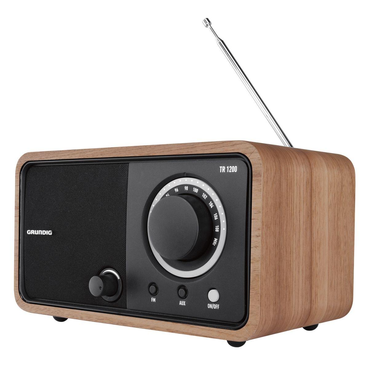 Radio analogique GRUNDIG TR 1200 Chêne