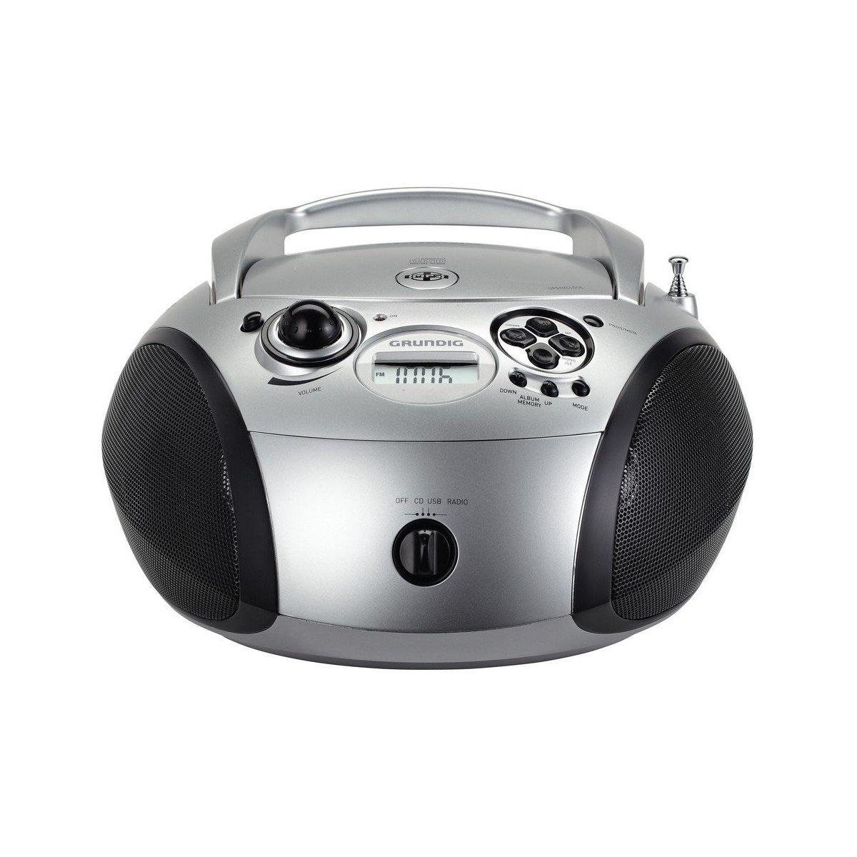 Radio CD GRUNDIG RCD1445 Noir et Argent