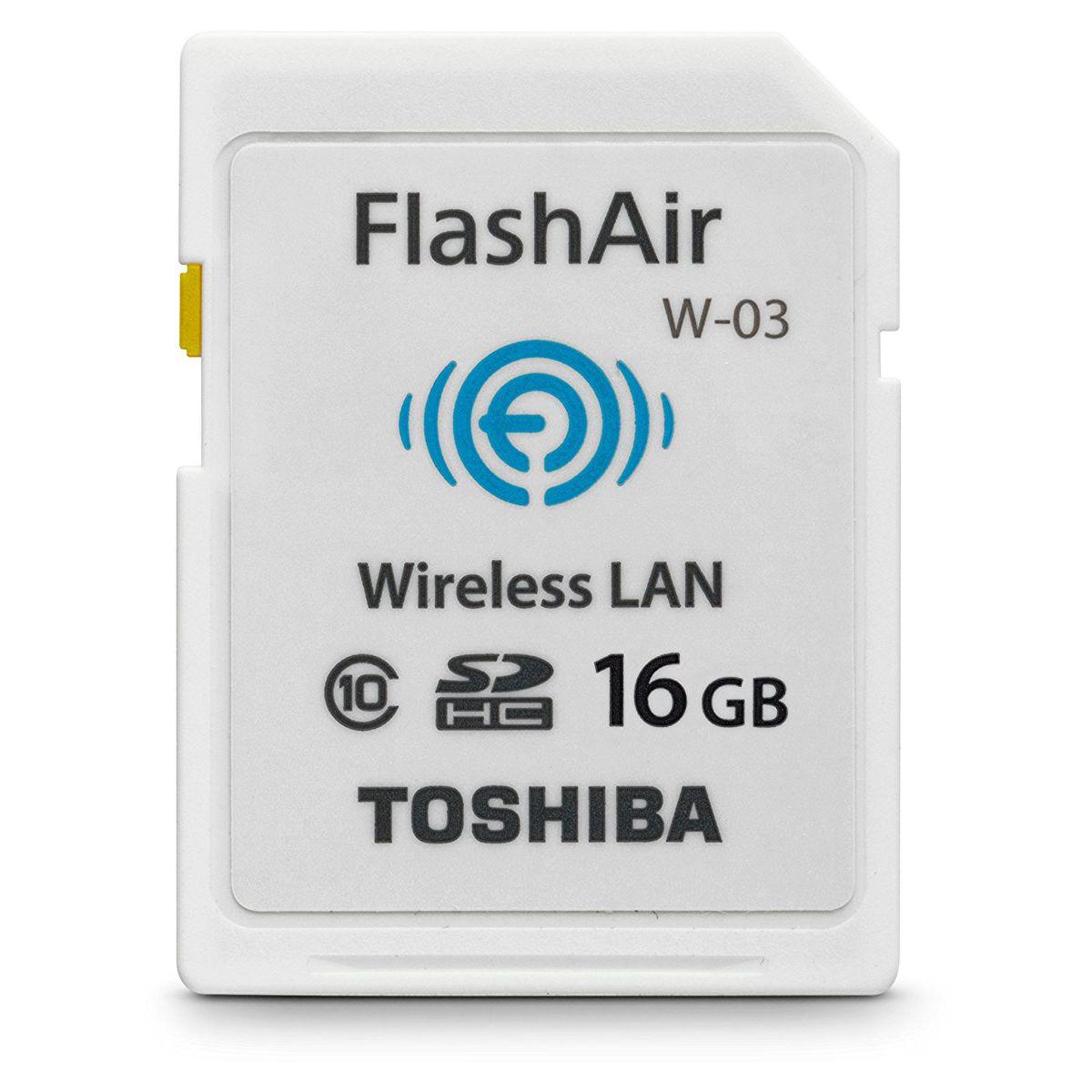 Mémoire TOSHIBA Carte SD Flash Air Wifi