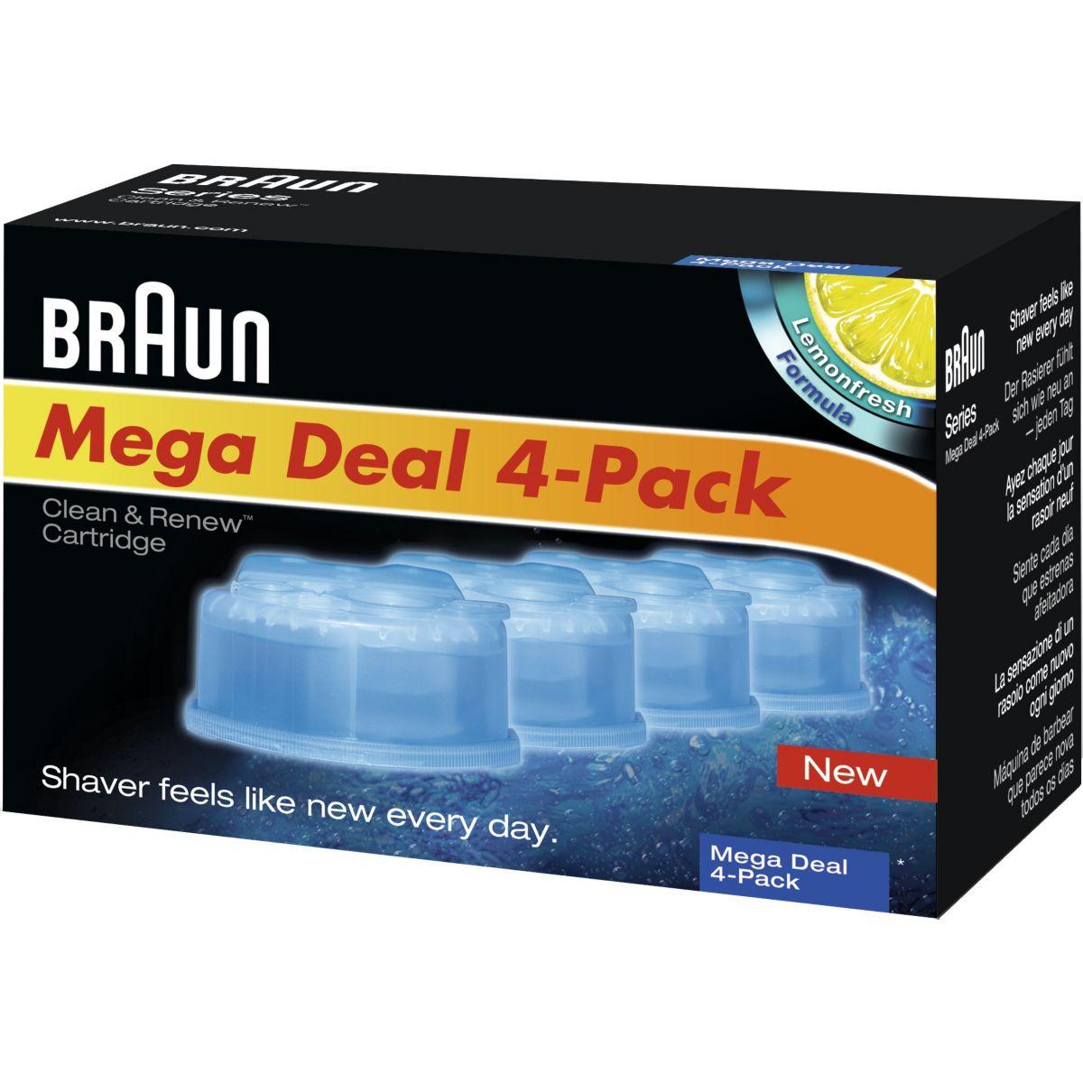 Lotion de nettoyage BRAUN CCR4:lotion nettoyante x4