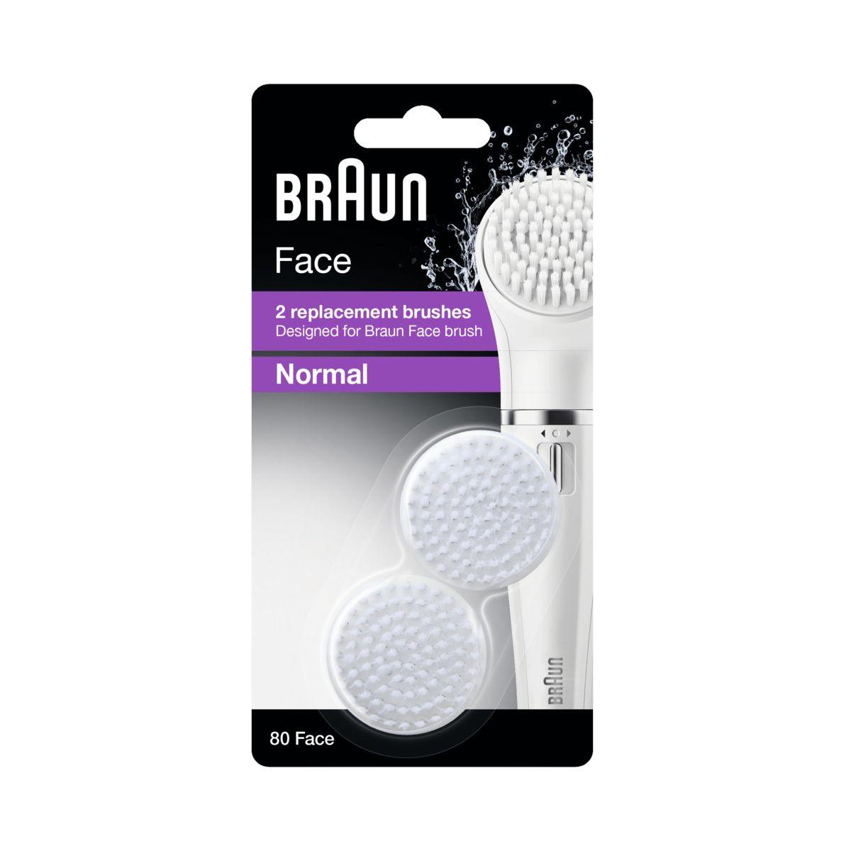 Brossette de rechange BRAUN Rech nettoyage visage SE80 (photo)