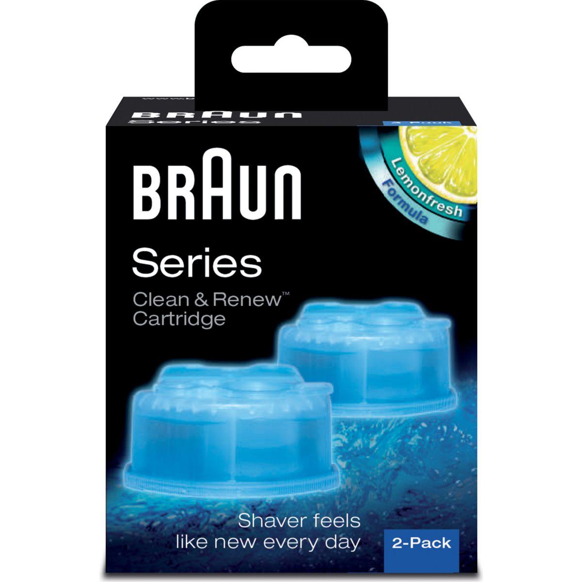 Lotion de nettoyage BRAUN CCR2:lotion nettoyante x2
