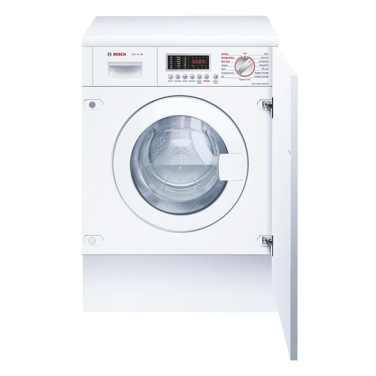 Lave-linge séchant intégrable BOSCH WKD28541FF