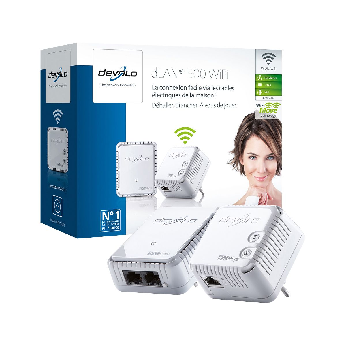 CPL Duo DEVOLO dLAN 500 Wifi Starter Kit