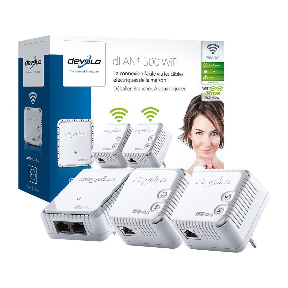 CPL Trio DEVOLO dLAN 500 Wifi Network ki