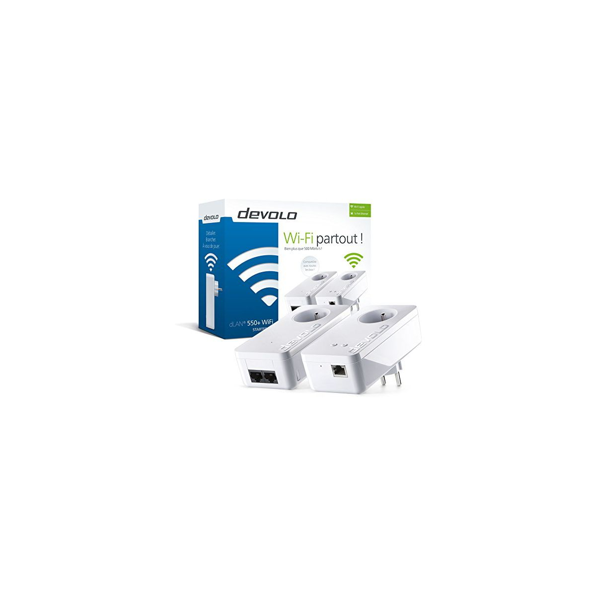 CPL DEVOLO dLAN 550+ - Starter Kit avec prise