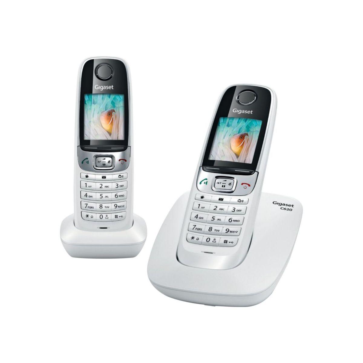 Téléphone sans fil GIGASET C620 Duo Blanc