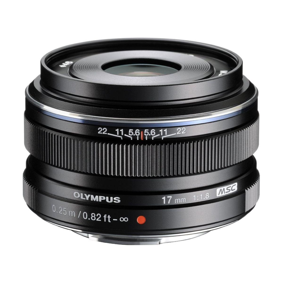 Objectif pour Hybride OLYMPUS 17mm f/1.8 noir M.Zuiko